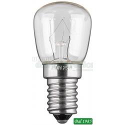 LAMPADA PER FRIGORIFERI 25 WATT ATTACCO E14 110LM