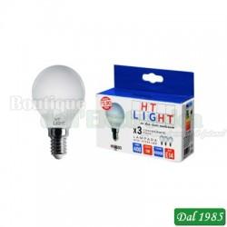 LAMPADE LED 230 VOLT 5 WATT 4000°K ATTACCO E14 CONFEZIONI DA 3 PEZZI