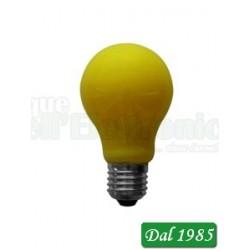 LAMPADINA CLASSIC LED VETRO COLORE GIALLO LUCE CALDA 4 WATT E27