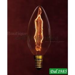 LAMPADINA INCANDESCENZA VINTAGE CANDELA THUNDER E14