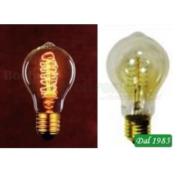 LAMPADINA INCANDESCENZA VINTAGE GOCCIA A60 TWIST E27