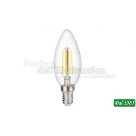 LAMPADINA LED FILAMENT OLIVA E14 4W LUCE CALDA 3000°K
