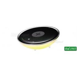 LAMPADA NOTTURNA RGB 24 LED CON BASE DI RICARICA WIRELESS PER SMARTPHONE