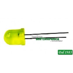 LED CILINDRICO 10mm GIALLO