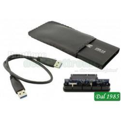 BOX USB 3.0 PER HDD 2.5 SATA - CASE ESTERNO HDD CON-2000