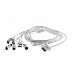 CAVO AV COMPONENT PORTA USB PER IPad - iPhone 4/4S ecc.