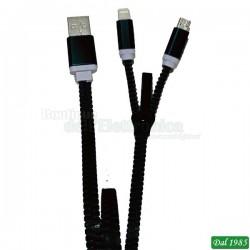 CAVO USB 2 IN 1 ZZIPP COLORE NERO