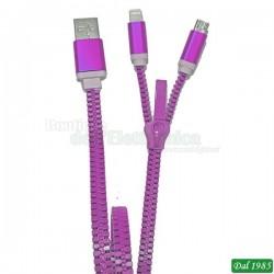 CAVO USB 2 IN 1 ZZIPP COLORE ROSSO