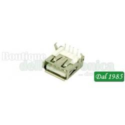 PRESA USB TIPO A 4P DA C.S A 90°