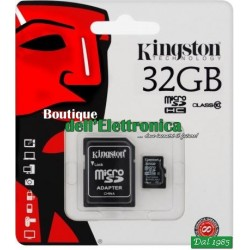 MICRO SD 32GB CLASSE 10 UHS-1 KINGSTON 45MB/s