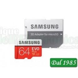 MICRO SD SAMSUNG EVO PLUS 64 GB CLASSE CL10 MB-M