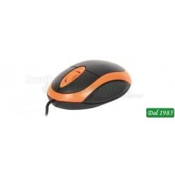 MOUSE OTTICO USB OMEGA COLORE NERO/ARANCIO