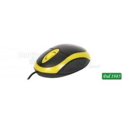 MOUSE OTTICO USB OMEGA COLORE NERO/GIALLO