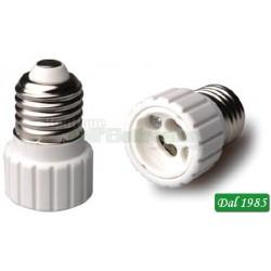 ADATTATORE PER LAMPADE DA E27 A GU10