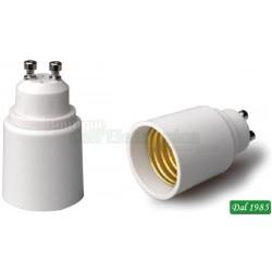 ADATTATORE PER LAMPADE DA GU10 A E27