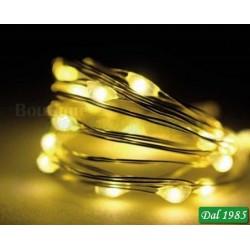 CATENA 120 MICRO LED LAMPEGGIANTI BIANCO CALDO 6M CON MEMORY CONTROLLER IP46