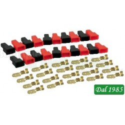 KIT 20 FASTON MASCHIO CON COPRIFASTON PASSO 6,3MM