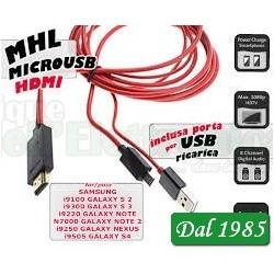 ADATTATORE MHL MICROUSB - HDMI