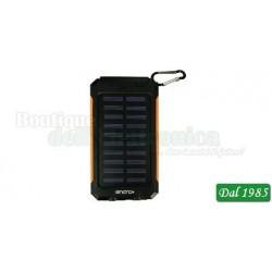 POWER BANK A ENERGIA SOLARE 8000MAH G8S - ARANCIONE