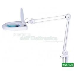 LAMPADA 60 LED CON LENTE 5 DIOTTRIE E MORSETTO - 10W