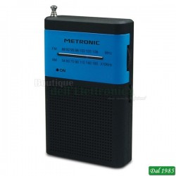 RADIO TASCABILE AM/FM POCKET COLORE BLU E NERA