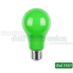 LAMPADA A LED 230V 5W E27 COLORE VERDE