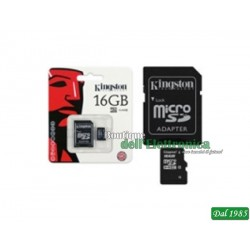 MICRO SD 16GB CLASSE 10 KINGSTON 45MB/s