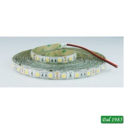 STRISCIA 5M IP65 5050 60LED/M 12V 14,4W/M 1300LM/M 3000K