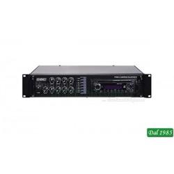 AMPLIFICATORE PROFESSIONALE 100V / 180W A 6 ZONE CON MP3