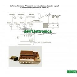 CENTRALINO CON 4 INGRESSI (06-099) OFFEL PER BANDA S E MIX TV