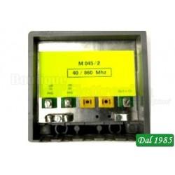 AMPLIFICATORE TV 2 INGR. LOG 40-860Mhz