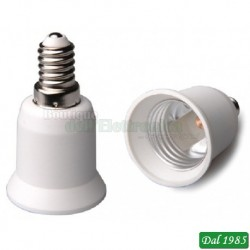 ADATTATORE PER LAMPADA DA E27 A E14