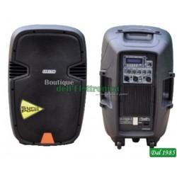 BOX AUDIO PROFESSIONALE POTENZA MAX 300W CON USB/SD E TROLLEY