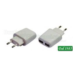 ALIMENTATORE CON DOPPIA USCITA USB 5VCC 2,4A