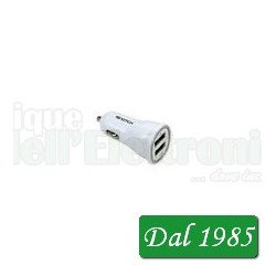 ALIMENTATORE DA AUTO 2 USCITE USB 1A + 2,1A