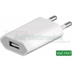 ALIMENTATORE USB 1 A FORMATO SLIM CON 1 PRESA