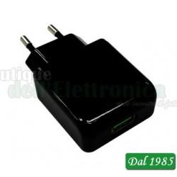 CARICATORE DA RETE RAPIDO USB QUALCOMM 3.0