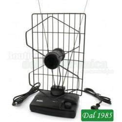 ANTENNA DA INTERNO AMPLIFICATA FM - VHF - UHF CON FILTRO LTE