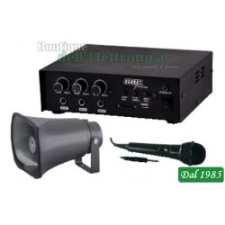 KIT AMPLIFICATORE 30W CON MP3 / TROMBA / MICROFONO ( Mod. GBC KIT CAR 30 )