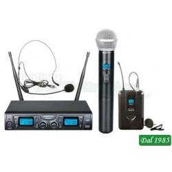 KIT RADIOMICROFONO A GELATO E 1 ARCHETTO UHF 16CH (TXZZ622)