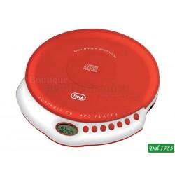 LETTORE CD PORTATILE MP3 TREVI CMP 498 ROSSO
