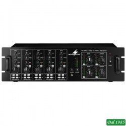 MIXER AMPLIFICATORE 4 ZONE INDIPENDENTI 100 VOLT 4X40 WATT