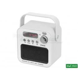 RADIO PORTATILE MP3 BLUETOOTH TREVI DR 750 BT POKER BIANCO