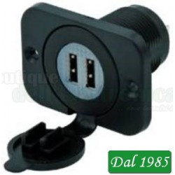 PRESA USB DOPPIA DA PANNELLO 12/24 VOLT