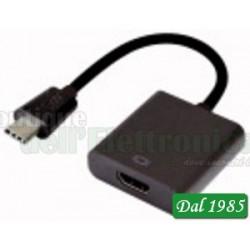 """ADATTATORE PRESA HDMI- SPINA USB 3.1 TIPO """"C"""""""