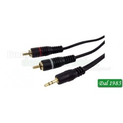 CAVO AUDIO HIGH END SPINA JACK 3,5MM STEREO / 2 SPINE RCA 1,2M