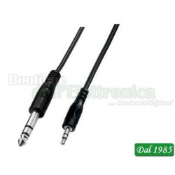 CAVO AUDIO JACK 3,5 MM STEREO-JACK 6,3 MM STEREO LUNGHEZZA 1,5 METRI