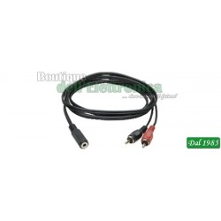 CAVO AUDIO PRESA JACK 3,5MM STEREO / 2 SPINE RCA