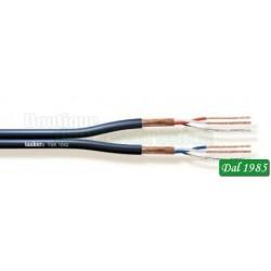 CAVO AUDIO TSK1042 2X2X0,22mm² PER CHIRARRA SPIRAL NERO