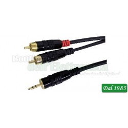 CAVO LINE / INSTRUMENT PROFESSIONALE SPINA 3,5MM STEREO / 2 SPINE RCA 1,8M